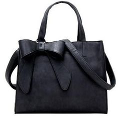 FLYING BIRDS Womens Leather Large Shoulder Bow Tote High Quality Handbag LS4934