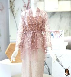 Discover recipes, home ideas, style inspiration and other ideas to try. Kebaya Lace, Batik Kebaya, Kebaya Dress, Batik Dress, Lace Dress, Kebaya Modern Hijab, Kebaya Hijab, Kebaya Muslim, Muslim Dress