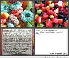 Fruit loops vs. real fruit