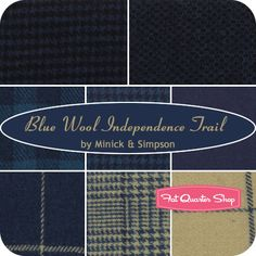 Independence Trail Blue Wool Fat Quarter Bundle Minick & Simpson for Moda Fabrics - My fave designers!