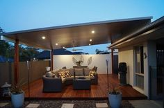 Do you want a Australian made Gold Coast patio, deck or carport with a quality build & finish?Call Gold Coast Patios to get a FAST Quote. Patio Pergola, Deck With Pergola, Backyard Patio, Pergola Kits, Pergola Ideas, Backyard Covered Patios, Patio Blinds, Outdoor Blinds, Outdoor Living Areas