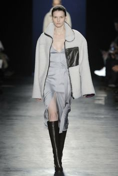 Altuzarra RTW Fall 2014, #29 / Hate it when they cover a pretty dress with a huge and/or ugly coat.