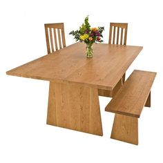 Modern Designer Dining-Conference Table   Solid Wood Furniture   Available at Vermont Woods Studios