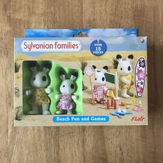 Sylvanian Families Rocking Chair With Figure Knitting Basket,scissors Glasses Beautiful And Charming