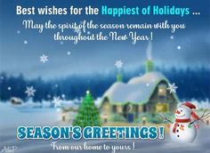 Send Season's Greetings & best wishes for the Happiest of Holidays to loved ones across miles ! #holidays #winter #seasonsgreetings #happyholidays #holidaycheer #joy #freeseasonsgreetings