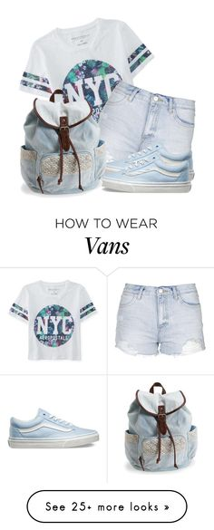 """NYC Girl"" by k-deniro on Polyvore featuring Aéropostale, Topshop, Vans…"