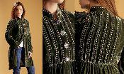 Double D Ranchwear Awee Navajo Dress - Agave...in velvet