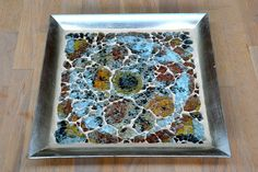 Tray with tempered glass mosaic by Laura Leon Mosaics, via Flickr