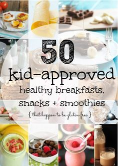 50 Kid-Approved Healthy Breakfasts, Snacks + Smoothies | Radiantly You | #glutenfree #sugarfree