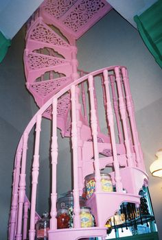 Vintage inspired spiral staircase