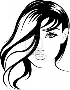 beauty face girl portrait illustration Stock Photo