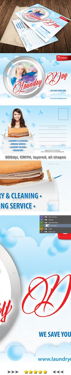 6 In 1 Laundry Services Bundle V01 Laundry Service Font Logo And