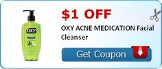 Coupon $1.00 off OXY ACNE MEDICATION Facial Cleanser http://azfreebies.net/coupon-1-00-oxy-acne-medication-facial-cleanser/