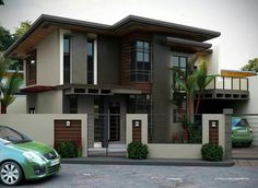 2 storey house design, house exterior design, house outside des Minimalist House Design, Minimalist Home, Modern House Design, Modern Zen House, 2 Storey House Design, Two Storey House, Double Storey House Plans, Philippine Houses, Design Exterior