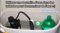 Utilisez une Bouteille d'Eau Dans les Toilettes pour Économiser de l'Eau.
