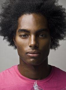 Real men wear pink; natural hair