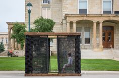 Deployable Smocked Porch | Architect Magazine | Substance Architecture, Winterset, Iowa, Community, New Construction, Outdoor, AIA - National Awards 2016