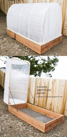 garden bed cover on hinges
