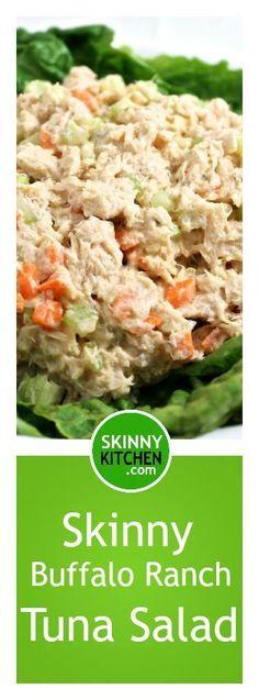 skinny buffalo ranch tuna salad