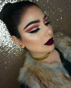Kourtney Choker/Earrings Set Necklace : / H - Wide Post earrings Gold Gorgeous Makeup, Love Makeup, Makeup Inspo, Makeup Inspiration, Makeup Goals, Makeup Tips, Beauty Makeup, Hair Makeup, Hair Beauty
