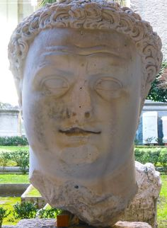 Bust of the Emperor Titus in Naples. He had just come to power when Vesuvius erupted in AD 79. Jan 2013 (with Andante Travels)