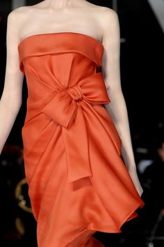 Valentino Spring - gorgeous orange bow