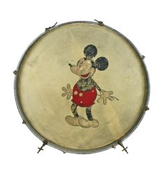 what would be better hanging on a wall?  Mickey Mouse Themed Kick Drum C1930s from rejuvenation vintage