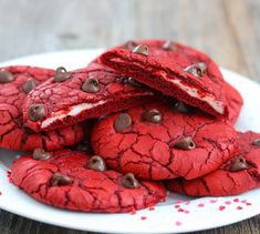 Red Velvet and Cream Cheese Cookies