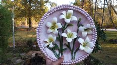 INSPIRATIONAL ART. Follow  the light to find your way out of darkness. The lily of the valley  Ceramic Lily Wall Sculpture by VixonSullivan on Etsy