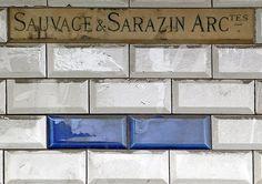 Henri Sauvage (1873-1932) & Charles Sarazin (1873-1950) - SAUVAGE & SARAZIN ARCtes. Building Plaque. Pottery Tile. Circa 1898-1912. Henri Sauvage, Art Decor, Home Decor, Art Nouveau, Tile, Pottery, Building, Design, Architects