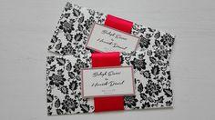 Piros és fekete esküvői meghívó - red and black wedding invitation