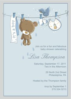 Boy Baby Shower Free Printables | Babies, Shower invitations and ...