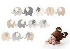 Lustige Elefanten als Wandtattoo auf Bogen A3. Die Elefanten sind auf weiße matte Wandtattoo Folie gedruckt und formgeschnitten. Die Elefanten als Wandtatto sind für fast alle Untergründe...