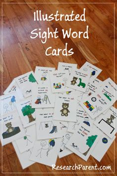 Homemade Illustrated Sight Word Flashcards - Help Your Kindergartener Learn to Quickly Recognize Sight Words - ResearchParent.com