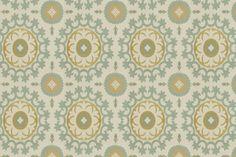 teal and green fabric, love it!  ROMAN CIRCLE - ROBERT ALLEN FABRICS