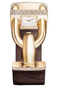 カデナ ウォッチ セルティゴールド 素材|イエローゴールド、ダイヤモンド、マザーオブパール、革ブレスレット ムーブメント|クォーツ 価格|402万3000円