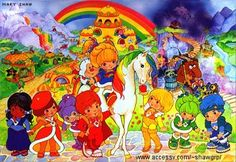 Rainbow Brite :)   can't forget Murky and Lurky who always tried to take the color out of everything!  Rainbow and her pal twink were my favorite cartoon characters!