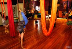 <3 Welcome to The Body Art Studio ~ Home of the Black Dirt Goddess ~ Aerial Yoga