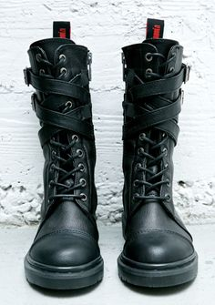 Demonia - Rival Strappy Combat Boots  http://www.dollskill.com/demonia-rival-strappy-combat-boots.html
