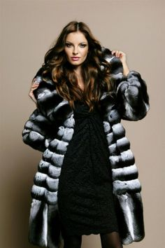 chinchilla fur coat  More Men's and Women's Fur Fashion Looks On @anandco #furfashion #furonline  Add, Pin, Share!