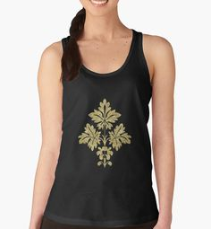 FLORAL GOLD by Prescott Casual Wear Women, Racerback Tank Top, V Neck T Shirt, Classic T Shirts, Tank Man, Cosplay, Hoodies, Tank Tops, Lady
