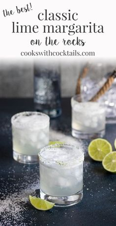 Classic Lime Margarita On the Rocks - - This classic margarita with lime is quite possibly the most perfect summer cocktail of all time! Smooth, silky and served on the rocks, its so refreshing and always leads to a good time! Margarita Cupcakes, Mango Margarita, Coconut Lime Margarita Recipe, Homemade Margarita Mix, Classic Margarita Recipe, Margarita On The Rocks, Margarita Recipes, Jillian Harris, Tequila Sunrise
