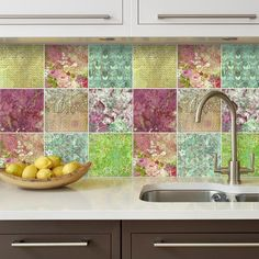 Floral Patchwork Tiles  Tile Stickers  Tile by homeartstickers
