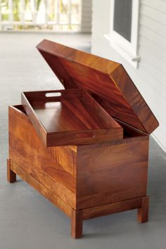 Immigrant's Trunk, made in Hawaii by Martin MacArthur from solid Koa wood. www.martinandmacarthur.com