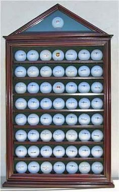 Attirant 57 Golf Ball Display Case Shadow Box Wall Cabinet Holder Rack W/ 98% UV