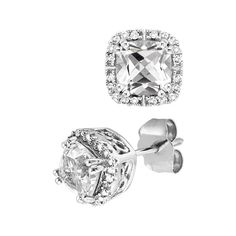 White Topaz and Diamond Earrings from Fred Meyer  $200    They kind of match my engagement ring!