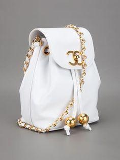 Chanel Vintage logo shoulder bag
