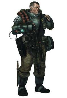 Dark-Heresy RPG: Guardsman Grenadier/Stormtrooper Acolyte.