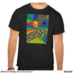 Abstract Design 2 Men's Basic Dark T-Shirt #cool #abstract #colourful #colour #art #geometric #illustration #unique #custom #original #creative #design #tshirts
