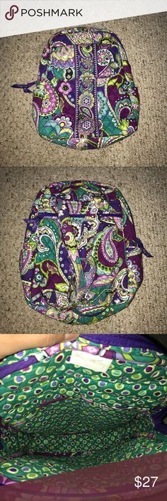 Small Vera Bradley Backpack Used but still in very great condition!  No flaws, rips or stains Vera Bradley Bags Backpacks